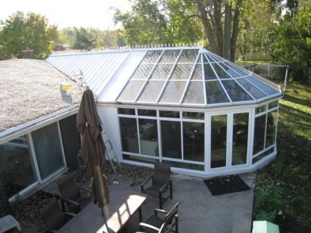 Large aluminum conservatory exterior