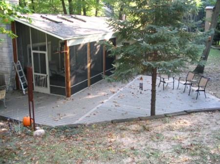 Composite deck and screen enclosure